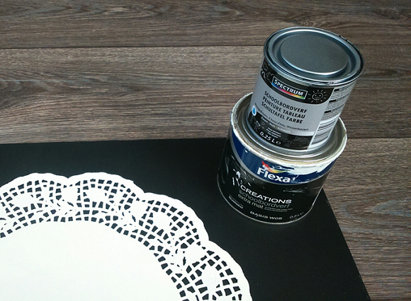 stap 3 DIYkurkbord sjabloon zwart