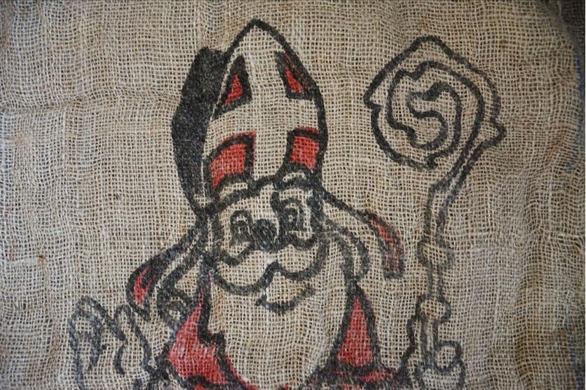 Sinterklaas op jute