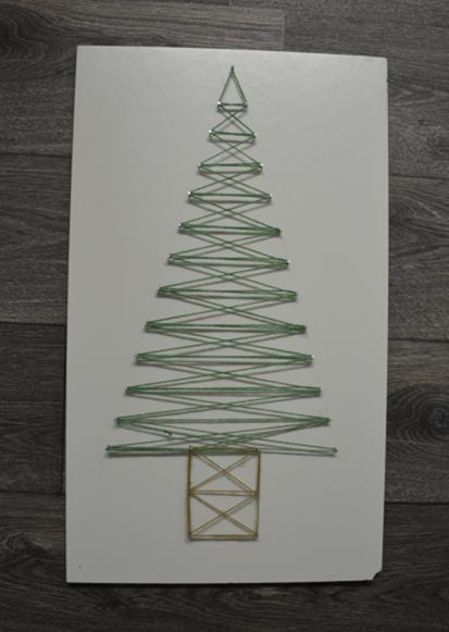 bord met kerstboom