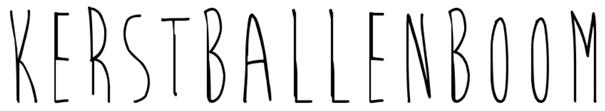 kerstballenboom letters