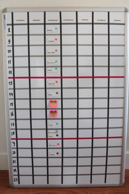 planningsbord voor overzicht in je dag en activiteiten