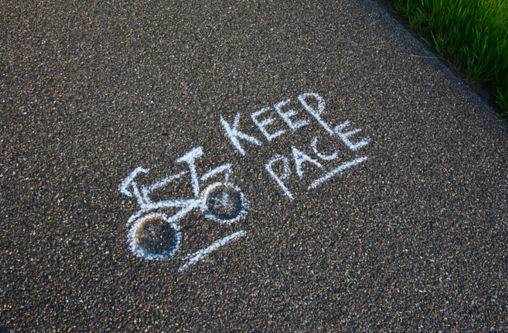 Keep pace stoepkrijt