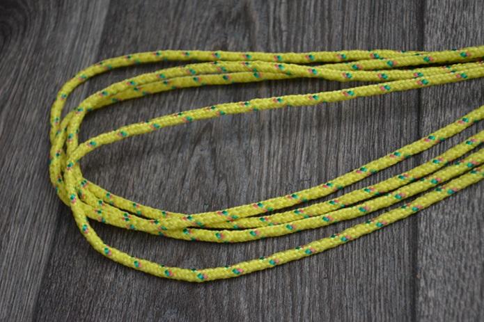 Stap 2 vouw het touw dubbel