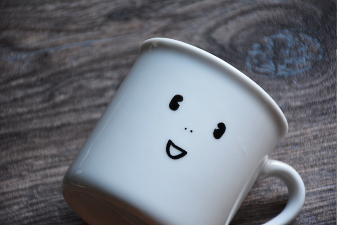smiley diy servies pimpen